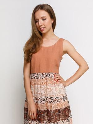 Платье терракотовое в принт   4332552