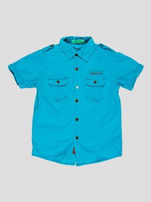 Рубашка бирюзовая | 4349914