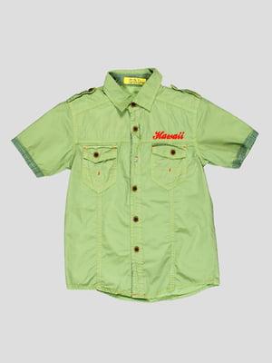 Рубашка оливкового цвета | 4349917