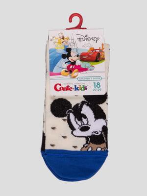 Шкарпетки кольору капучино в малюнок | 4366817