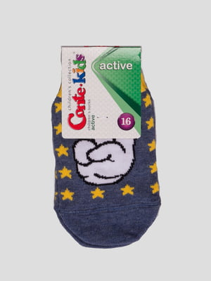 Шкарпетки сині з малюнком | 4366779
