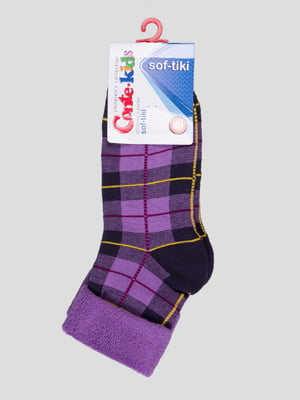 Шкарпетки бузкові махрові | 3750315