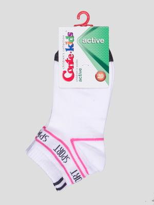 Шкарпетки білі з малюнком | 4366751