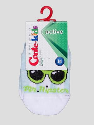Шкарпетки світло-бірюзові з малюнком | 4366777
