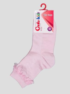 Шкарпетки світло-рожеві і мереживним оздобленням | 4366757