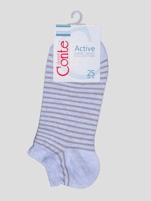 Шкарпетки світло-блакитні в смужку | 4366503