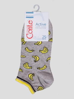 Шкарпетки сірі з малюнком | 4366494