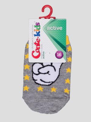 Шкарпетки сірі з малюнком | 4366780