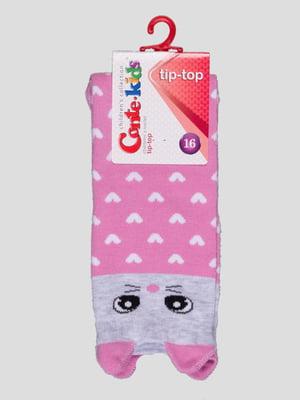 Шкарпетки світло-рожеві з малюнком | 4366718