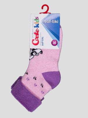 Шкарпетки рожеві махрові | 3750310