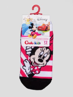 Шкарпетки малинові з малюнком | 4366800