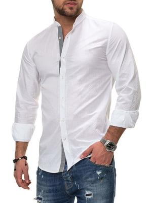 Сорочка біла в смужку | 4368200