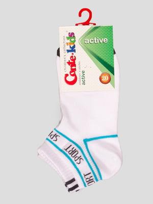 Шкарпетки білі з малюнком | 4366750