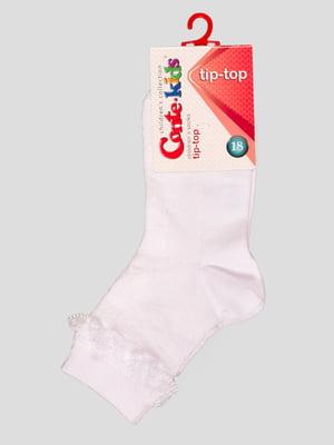 Носки белые с кружевной отделкой | 2626390