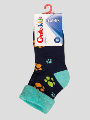 Шкарпетки сині махрові | 3750301