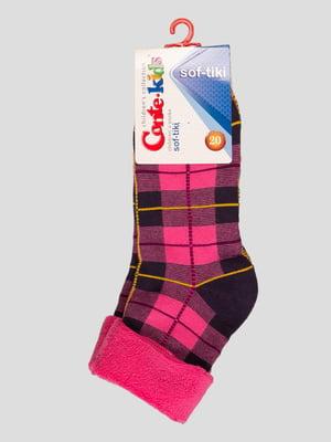 Шкарпетки рожеві махрові | 3750316