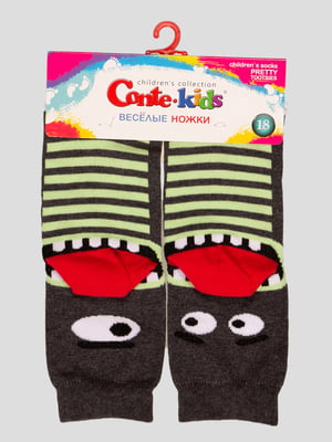Шкарпетки в смужку з малюнком | 4366797