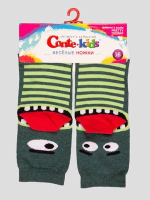 Шкарпетки в смужку з малюнком | 4366795