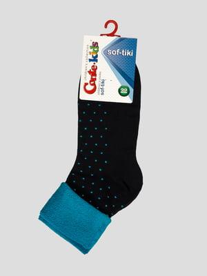 Шкарпетки темно-сині в горох | 3750324