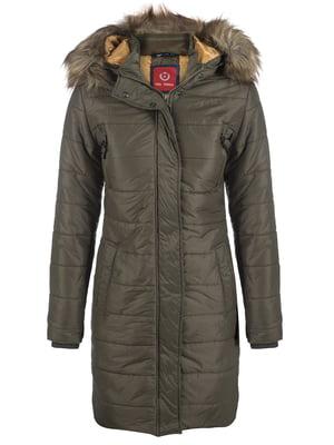 Пальто кольору хакі | 3797413