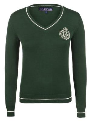 Пуловер темно-зелений   4313516