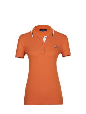 Футболка-поло оранжевая | 4313915