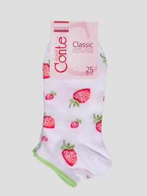 Шкарпетки білі в малюнок | 4366471