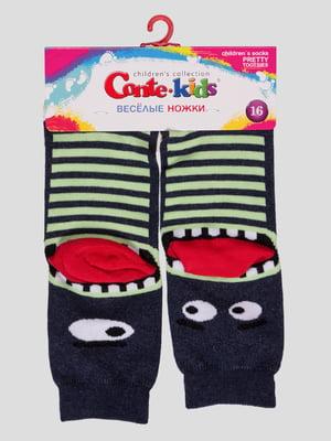 Шкарпетки в смужку з малюнком | 4366794