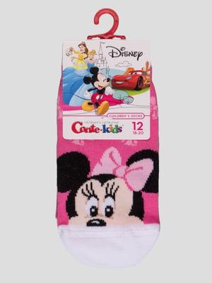 Шкарпетки рожеві з малюнком | 4366811