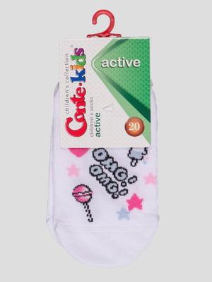 Шкарпетки білі в малюнок | 4366788