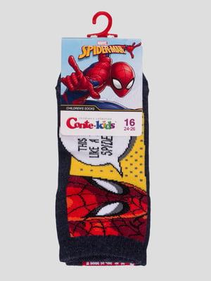 Шкарпетки темно-сині з малюнком | 4366823