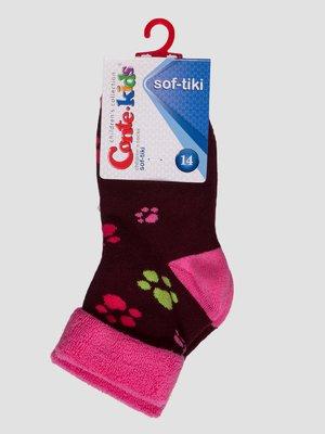 Шкарпетки бордові махрові | 3750300