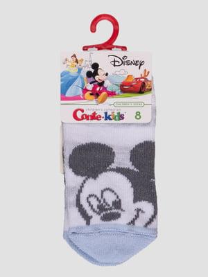 Шкарпетки світло-сірі з малюнком | 4366813