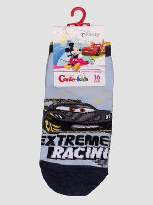 Шкарпетки блакитні з малюнком | 4366828