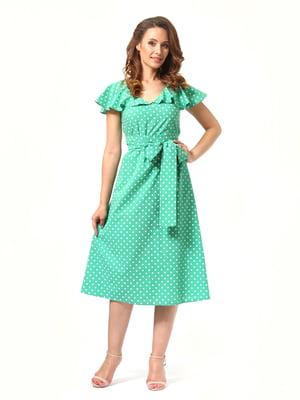 Сукня зелена в горох | 4372035