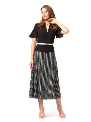 Сукня чорно-молочного кольору в дрібний горошок   4372060