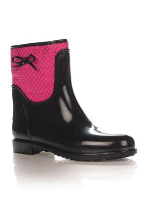 Сапоги розово-черные   1890469