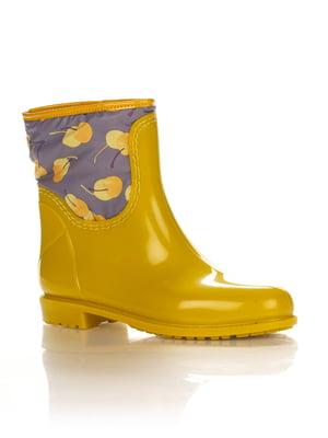 Сапоги желтые с принтом | 2096733