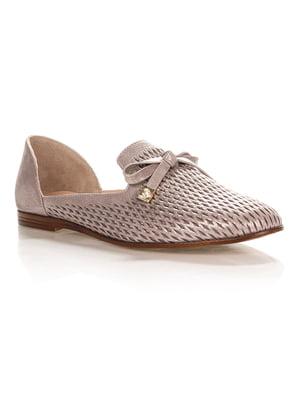 Туфли серебристо-серые | 4373785