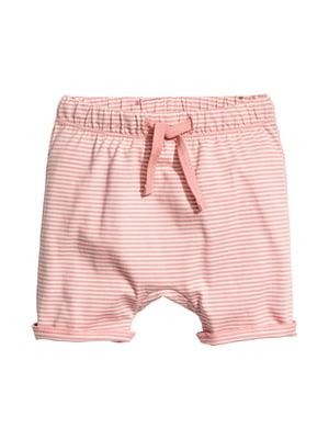 Шорти рожеві в смужку | 4377915