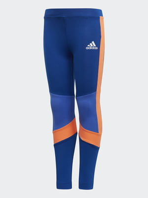 Леггинсы сине-оранжевые | 4375340