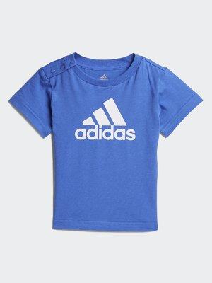 Футболка блакитна з принтом | 4375353