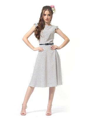 Сукня біла в горошок   4384616