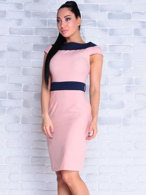 Сукня персиково-синього кольору | 4382804