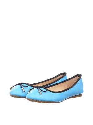 Балетки голубые   4383480
