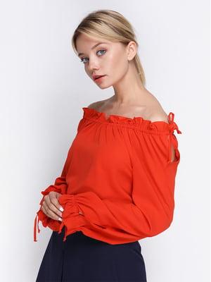Блуза теракотового кольору | 4358714