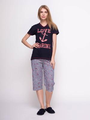 Пижама: футболка и бриджи | 4356878