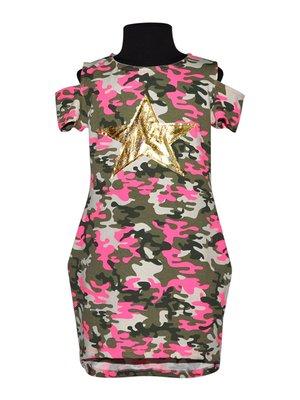 Платье в камуфляжный принт | 4333848