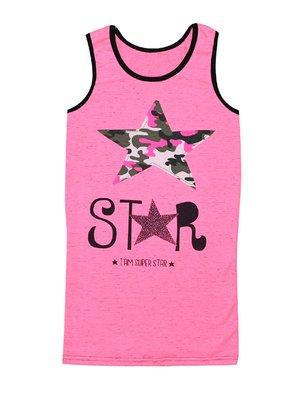 Платье розовое с принтом | 4388260