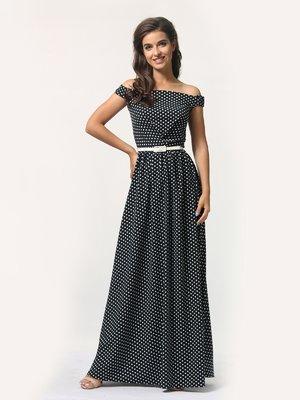 Сукня чорна в горошок | 4388472